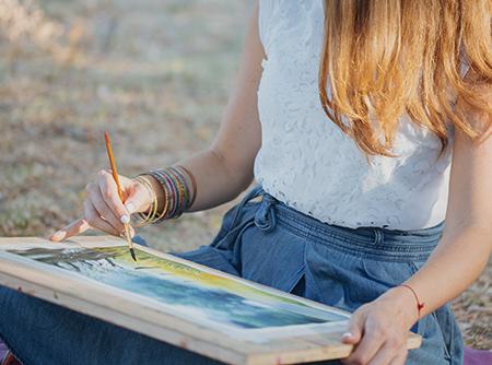 Peindre un paysage - Donner de la vie à vos peintures grâce à des techniques simples |