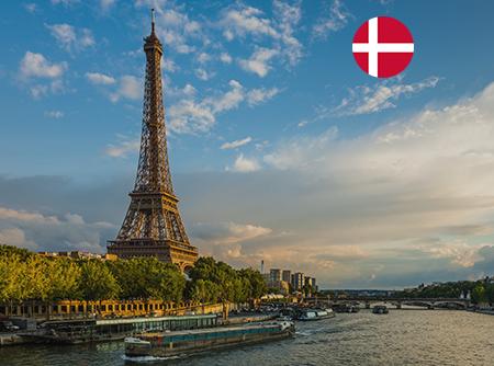 Français - Express (en Danois) - <p>Apprendre le Français en ligne depuis le Danois (débutant)</p> |