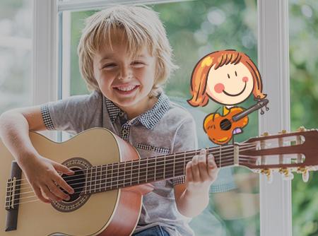 Guitare pour enfants (6-12 ans) - <p>Apprendre la guitare en s'amusant</p> |